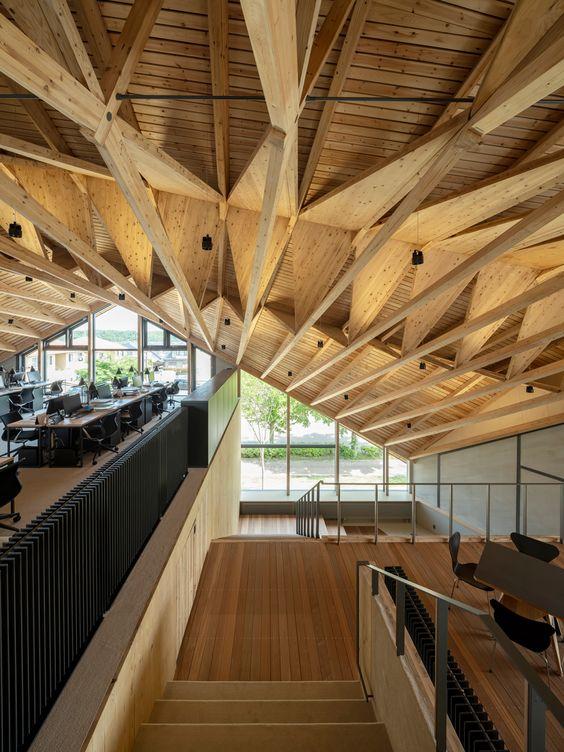 prédios de madeira