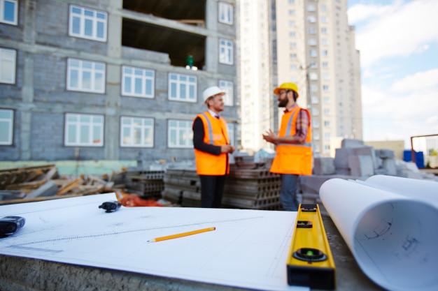 construtora para a obra