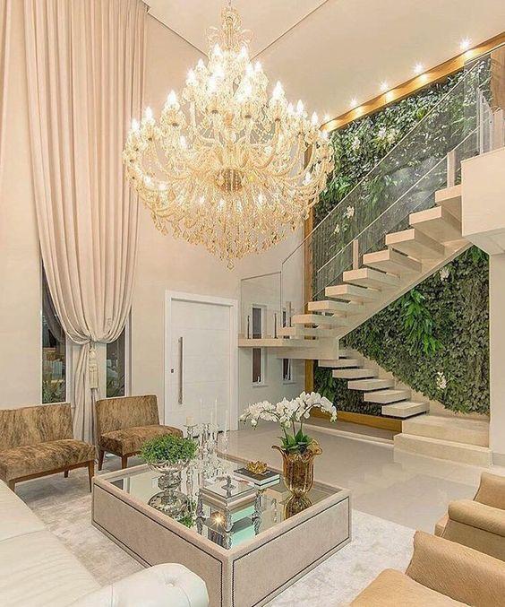 escada em u elegante