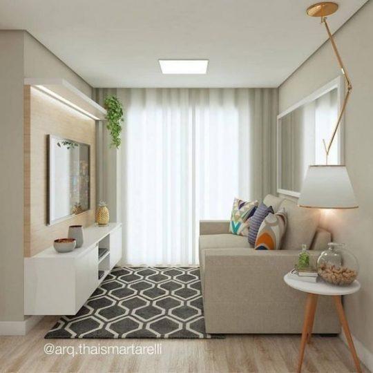 combinação de cores para sala pequena