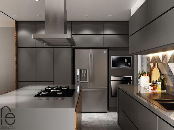 cozinha clara ou escura