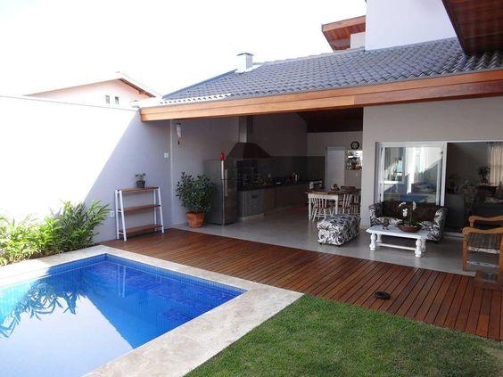 área gourmet com piscina