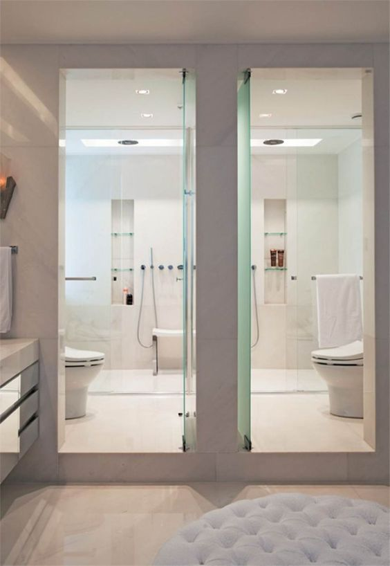banheiro americano duas portas