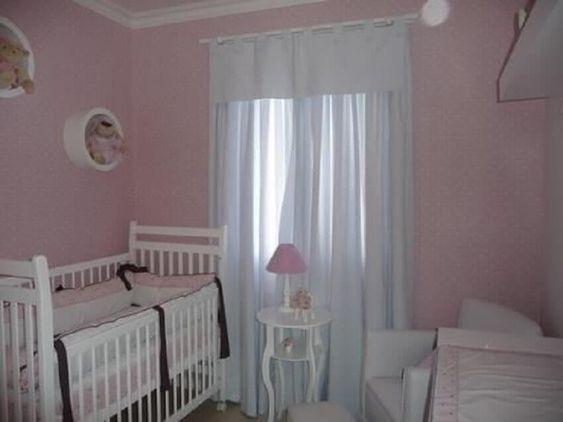 Quarto de bebê pequeno simples e barato - Para menina