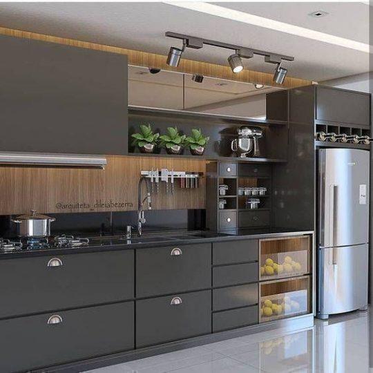 projeto de cozinha moderna