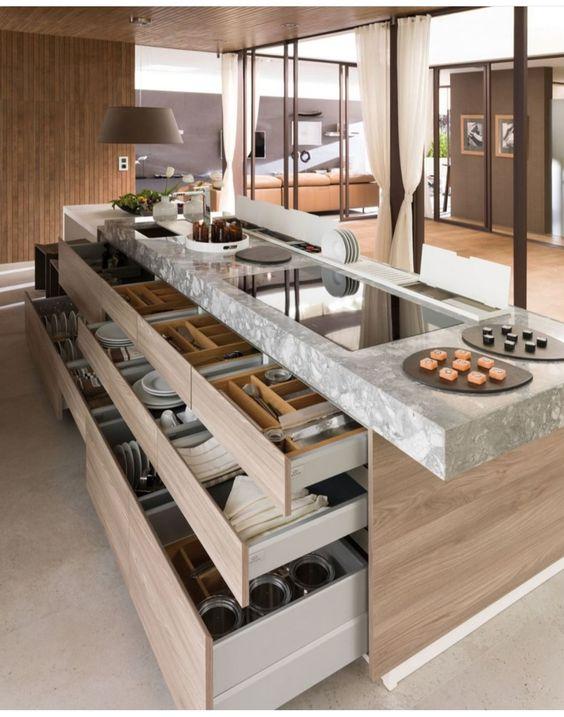 projetos de cozinhas modernas com ilha